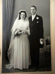 Vor genau 70 Jahren heirateten Maria und Fritz Pfister (Bild: PD)