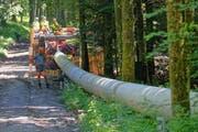 Die Druckleitung ist 995 Meter lang. (Bild: PD)