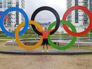 Die olympischen Ringe und Fabio Wyss: Ob daraus eine «Liebesbeziehung» wird? Spätestens am Dienstag wissen wir mehr. (Bild: PD)