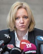 Barbara Loppacher an einer Pressekonferenz. (Bild: Key (Schafisheim))