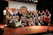Die Obwaldner-Jung-Juizer, Sieger der Sparte Jodel am kleinen Prix Walo. (Bild: Monika Bartz / Neue OZ)