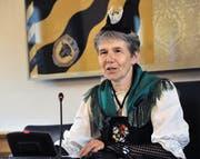 Die Andermatter CVP-Politikerin Frieda Steffen ist seit gestern die höchste Urnerin. (Bild Urs Hanhart)