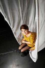 Vor dem Auftritt: Rea Felber im Theater Pavillon in Luzern. (Bild Corinne Glanzmann)