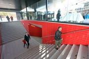 Ab dem 9. Dezember in Betrieb: die neue Haltestelle «Luzern Messe / Allmend», hier anlässlich der Eröffnungsfeierlichkeiten. (Bild: Philipp Schmidli / Neue LZ)