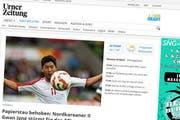 www.urnerzeitung war am Freitag zeitweise nicht verfügbar. (Bild: Screenshot: urnerzeitung.ch)