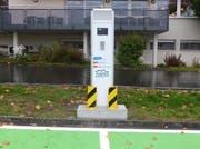 Eine Stromtankstelle– hier im Kanton Schwyz. (Bild PD)