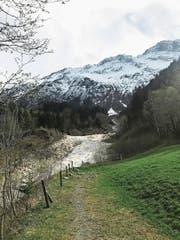 Eine Schneise wie eine riesige Narbe: Murgänge bei Guttannen im Haslital. (Bild: Dominic Wirth)