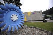 Das Kraftwerk des Elektrizitätswerks Altdorf AG in Bürglen. (Bild: Urs Hanhart / UZ)