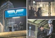 Szenen einer Nacht am Berliner Alexanderplatz. Seit 2015 wurden in der Umgebung des Platzes rund 7500 Straftaten registriert. (Bilder: Rudi-Renoir Appoldt (Berlin, 27. Januar 2018))