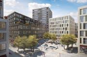 Visualisierung der Arealbebauung Mattenhof in Kriens. (Bild: Visualisierung PD)
