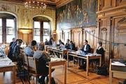 Sitzung des Grossen Stadtrats von Luzern, fotografiert am 5. März 2015. (Bild Nadia Schärli)