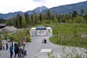 Hier soll das neue Restaurant des Tier- und Naturparks Goldau entstehen. (Bild: Erhard Gick/Neue SZ)