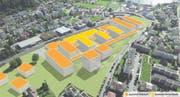 Wie die neuen und die sanierten Gebäude auf dem Campus Horw dereinst aussehen werden, ist heute noch unklar. (Bild: PD (BGP Architekten Zürich)/Bearbeitung: Oliver Marx)