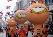 Die Kinder aus Arth mit dem Motto «Garfield». (Bild Werner Schelbert/Neue ZZ)