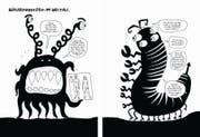 Post für die Ausserirdischen: 1972 schoss die Nasa Menschenbilder ins All. Während beim Mann ungeniert ein Penis baumelt, ist das Genital der Frau nicht einmal als Schlitz dargestellt – sondern als dreieckiges Stück Haut wie bei einer Schaufensterpuppe (Bild: Liv Strömquist)