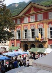 Das Theater Uri in Altdorf - hier am 1. August. (Bild: Archiv UZ)