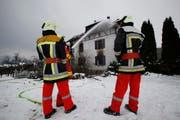 Hausbrand in Hünenberg am See. (Bild Stefan Kaiser/Neue ZZ)