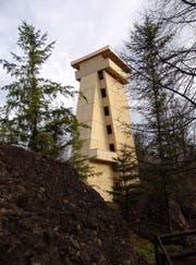 Der 30 Meter hohe Turm im Tierpark Goldau. (Bild: PD)