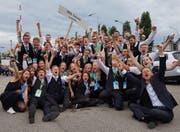 Die BML Talents jubeln über den Weltmeister-Titel. (Bild: PD)