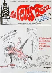 Die Nachwehen der Landammann-Feier sind im aktuellen «Feuerhorn» das beherrschende Thema. (Bild: Titelbild «Feuerhorn»)