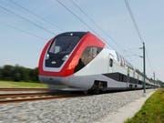 Designentwurf für den neuen Bombardier Fernverkehr-Doppelstockzug (Bild: Keystone)