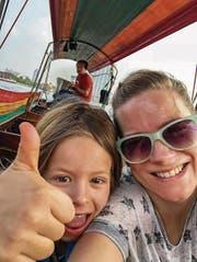 Andrea Jansen reist mit ihren drei Kindern gerne in warme Gefilde, etwa nach Bali. (Bild: anyworkingmom.com)