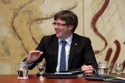 Carles Puigdemont, der katalonische Regional-Premier im September. (Bild: Toni Albir/EPA)