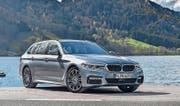 Auch als Touring (Kombi) wirkt der neue BMW 5er dynamisch und elegant zugleich.
