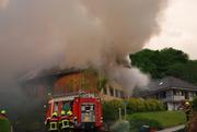 Das Bauernhaus in Geuensee wurde durch den Brand unbewohnbar. (Bild: Luzerner Polizei)