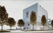 So soll das Probehaus des Luzerner Sinfonieorchesters beim Südpol aussehen. (Bild: Visualisierung: PD)