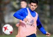 Fussballer Enzo Zidane (22). (Bild: Jean-Christophe Bott/ Keystone)