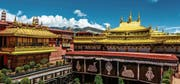Der 1300 Jahre alte Jokhang-Tempel in der tibetischen Hauptstadt Lhasa vor dem Brand. (Bild: Jason Yu/Getty ()