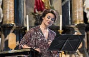 Olga Peretyatko in der Pfarrkirche Andermatt. (Bild: PD/Elia Roman)