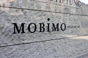 Schriftzug am Hauptsitz der Mobimo Holding AG in Luzern. (Bild: Keystone)