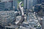 Das Schienennetz im Raum Zug hat seine Leistungsgrenze erreicht. (Bild: Stefan Kaiser / Neue ZZ)