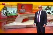 Das «Sportpanorama» vom letzten Sonntag war der letzte Auftritt von Beni Thurnheer als Sportmoderator. Ganz ohne Tränen ging die Sendung nicht über die Bühne. (Bild: Screenshot SRF)
