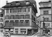 Das von Kasimir Friedrich Knörr erbaute Bankhaus (ca. 1825-1958). (Bild: Stadtarchiv/Nadia Schärli)