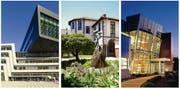 Drei mögliche Ziele für ein Auslandsemester (von links): die Universität Wien, die Rhodes University in Südafrika und die Purdue University in den USA. (Bilder Getty)