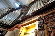 Die Hauptorgel der Hofkirche. (Bild: Nadia Schärli / Neue LZ)