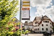 Einer der Taxito-Punkt ist bei der Postauto-Haltestelle «Post» in Luthern Dorf. (Bild: PD)
