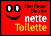 Mit diesem Sujet wird in Deutschland auf «nette Toiletten» aufmerksam gemacht. (Bild pd)