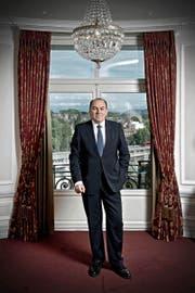 Axel Weber (58), Verwaltungsratspräsident, in einer Suite des Hotels Bellevue Palace in Bern. (Bild Pius Amrein)