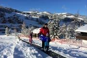 Ein modernes Ski-Förderband im Brunni-Alpthal. (Bild: PD)