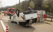 Der Unfall ereignete sich am Mittwochmittag. (Bild: Stützpunktfeuerwehr Zug FFZ)