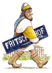 «Fritschihof» (Bild: Urs Krähenbühl/De rüüdig Fasnachtsfüerer 2018)
