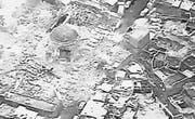 Satellitenbild der zerstörten Moschee. (Bild: EPA (Mossul, 21. Juni 2017))