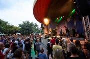 Die englische Band Jo Harman am letzten Samstag im Pavillon. (Bild: Jakob Ineichen (Luzern, 22. Juli 2017))