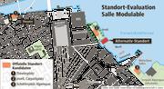 Die möglichen Standorte der Salle Modulable.