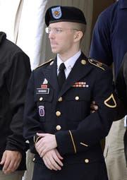 Chelsea Manning (29) während des Prozesses, damals noch als Bradley. (Bild: Shawn Thew/EPA (21. August 2013))