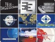 Die «Tagesschau» ging stets mit der Zeit: Das zeigen auch die Sendesignete von 1953 bis heute. (Bild: SRF)